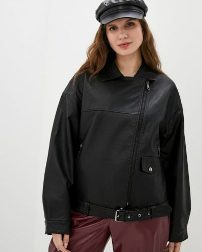 Черная кожаная куртка Grafinia