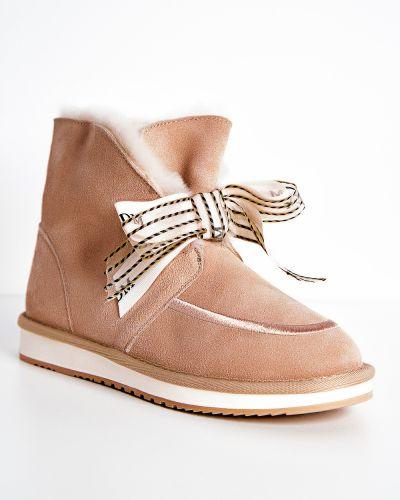 Брендовые розовые кожаные ботинки Prima D'arte