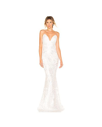 Свадебное платье со вставками сетчатое Katie May