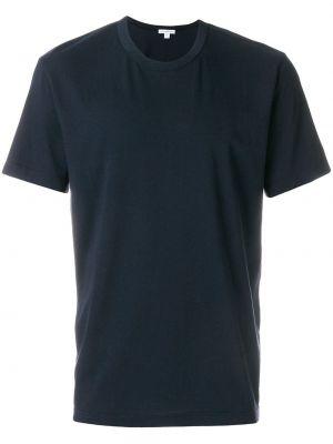 Базовая футболка - синяя James Perse