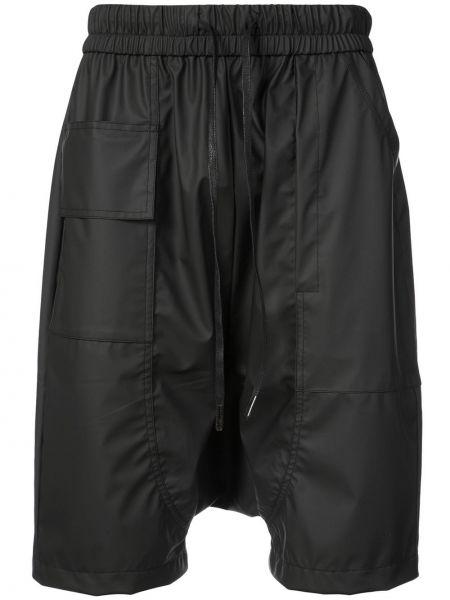 Черные шорты с заниженным шаговым швом Private Stock