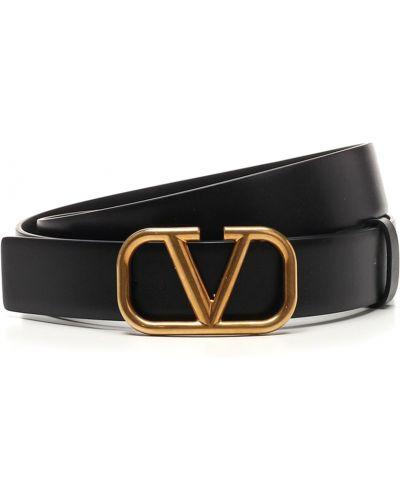 Pasek z paskiem - czarny Valentino