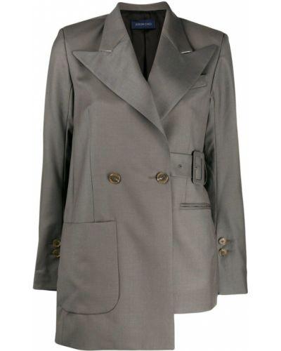 Пиджак серый в полоску Eudon Choi