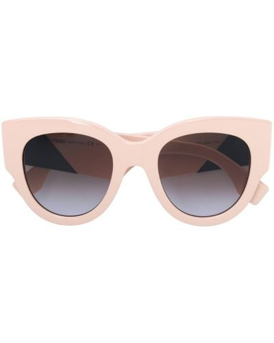 Солнцезащитные очки кошачий глаз бежевые Fendi Eyewear