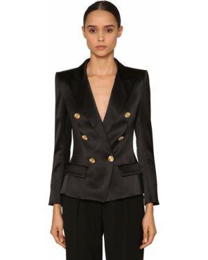 Черный пиджак двубортный с поясом Alexandre Vauthier