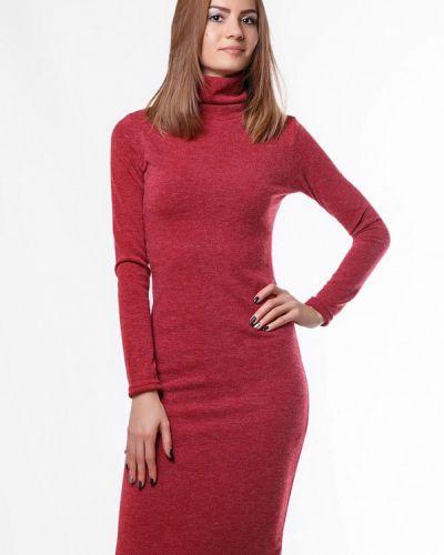 Платье красный осеннее Sfn