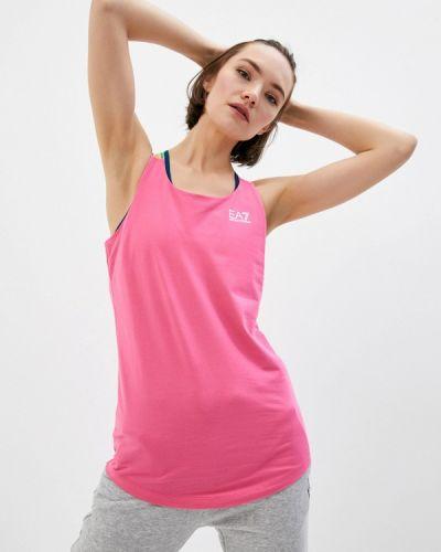 Розовый спортивный топ Ea7