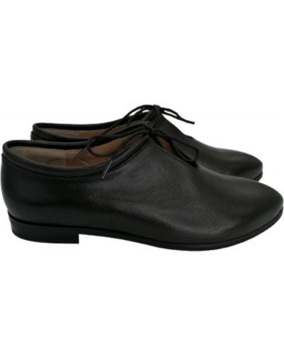 Кожаные туфли - черные Stepter