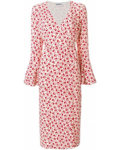 Платье миди с V-образным вырезом с запахом с длинными рукавами Essentiel Antwerp