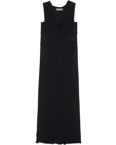 Черное платье макси Veronique Branquinho