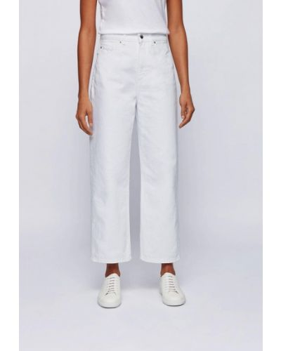 Прямые белые джинсы Boss