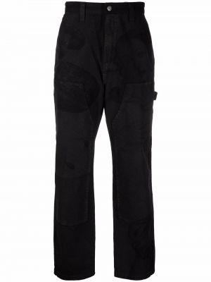 Прямые брюки - черные Stussy