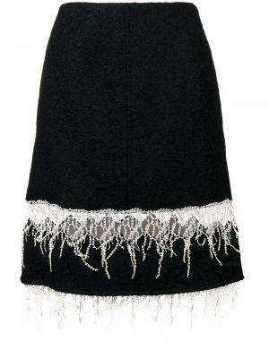 Spódnica midi z wysokim stanem z frędzlami wełniana Calvin Klein 205w39nyc