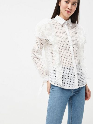 Блузка - белая Brigitte Bardot
