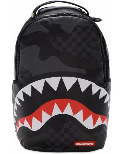 Z paskiem czarny plecak na paskach Sprayground