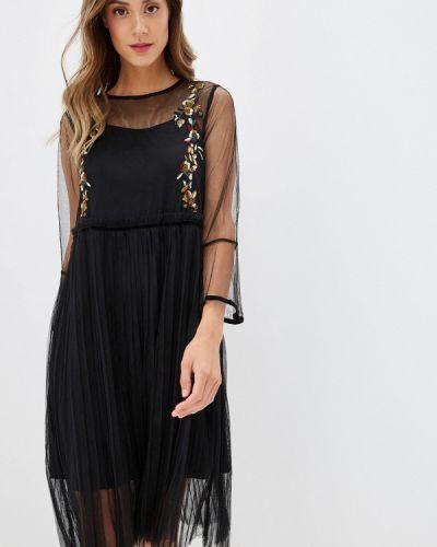 Черное вечернее платье Danity