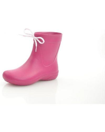 Ботинки на каблуке на каблуке красные Crocs