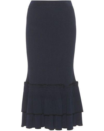 Niebieski spódnica maxi z wiskozy Jonathan Simkhai