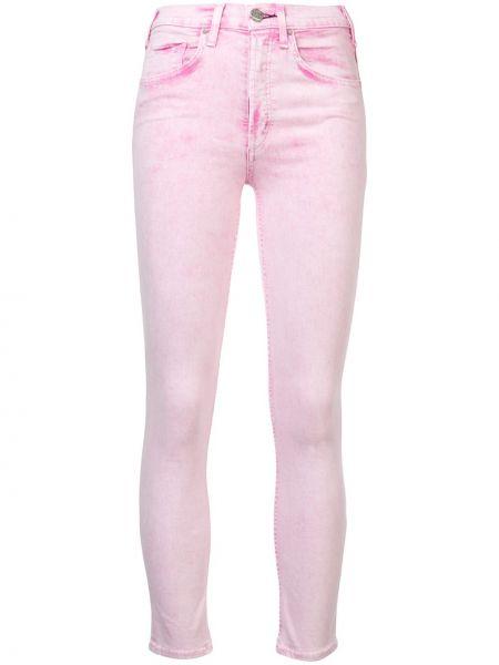 Хлопковые розовые укороченные джинсы с карманами на пуговицах Mcguire Denim