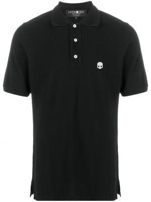 Czarna koszula krótki rękaw bawełniana Hydrogen