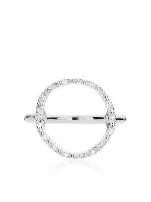 Серебряное кольцо с бриллиантом круглое Monica Vinader