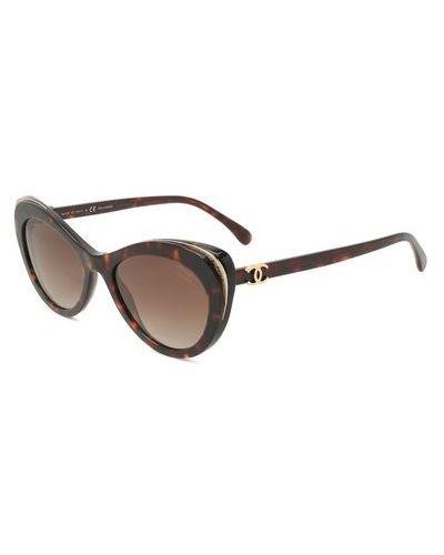 Коричневые солнцезащитные очки Chanel