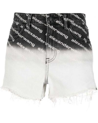 Джинсовые шорты с завышенной талией - черные Alexander Wang