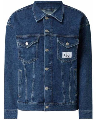 Niebieska kurtka bawełniana Calvin Klein Jeans