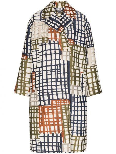 Niebieski płaszcz wełniany z długimi rękawami Jacquemus