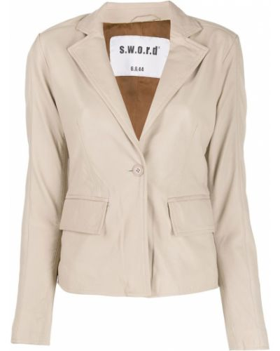 Сатиновый удлиненный пиджак с карманами S.w.o.r.d 6.6.44