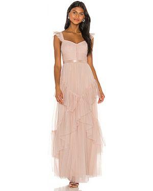 Вечернее платье плиссированное сетчатое Bcbgmaxazria