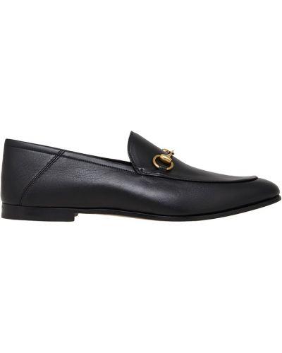 Классические туфли кожаные с пряжкой Gucci
