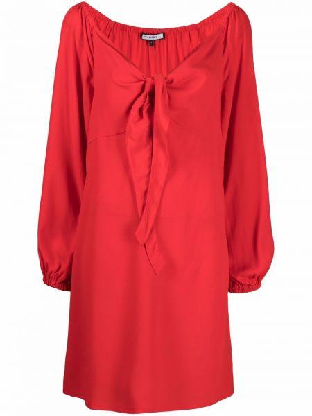 Sukienka midi z długimi rękawami z jedwabiu Fisico