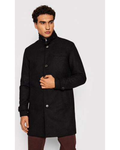 Płaszcz wełniany - czarny Jack&jones Premium