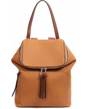 Кожаный рюкзак на молнии с отделениями Loewe