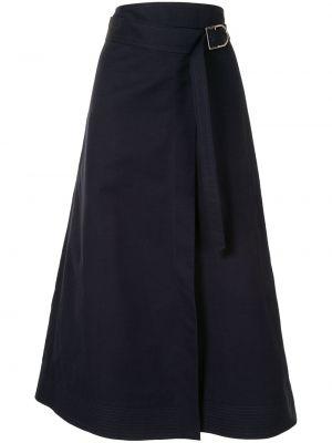 Niebieska spódnica midi z wysokim stanem bawełniana Gabriela Hearst