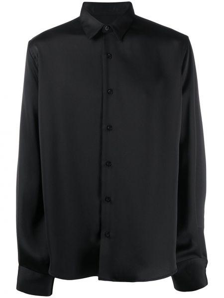 Czarna koszula z długimi rękawami Ami