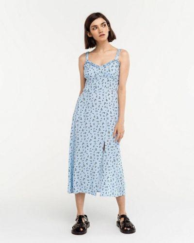 Голубое прямое платье Befree