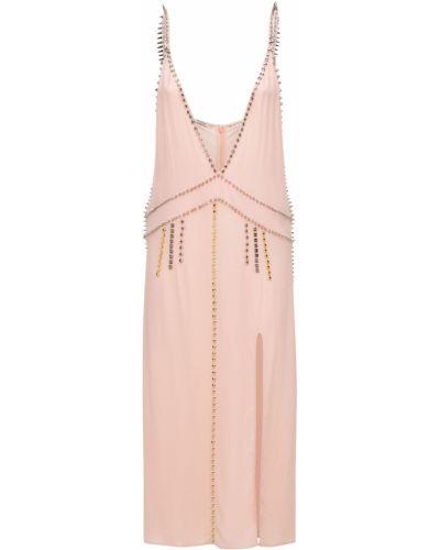 Платье миди - розовое Miu Miu
