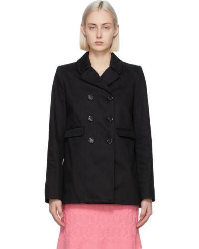 С рукавами ватная черная длинная куртка Marc Jacobs