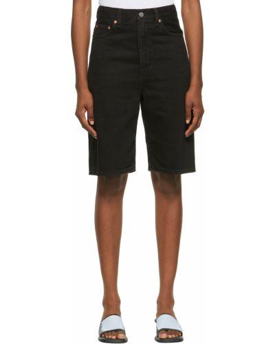 Szorty jeansowe - czarne Levi's