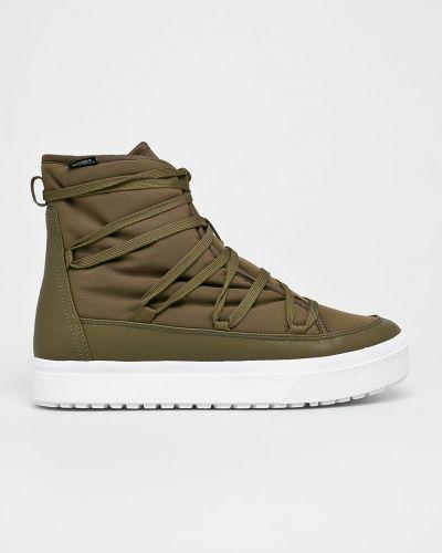 Ботинки на шнуровке высокие зеленый Native