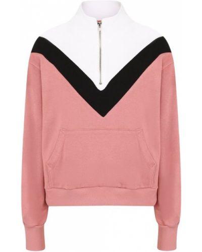 Розовый свитер с воротником-стойкой Wildfox