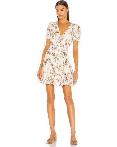 Платье с подкладкой винтажное айвори на молнии Yumi Kim