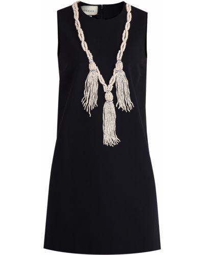 Вечернее платье мини без рукавов Gucci