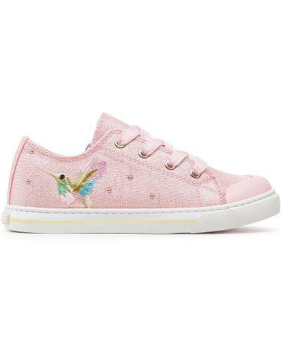 Кеды на шнуровке - розовые Pablosky