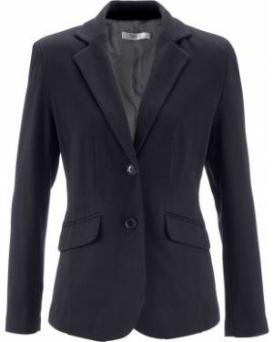 Пиджак черный приталенный Bonprix