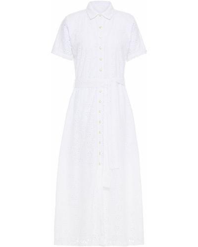 Хлопковое белое платье миди с подкладкой Melissa Odabash