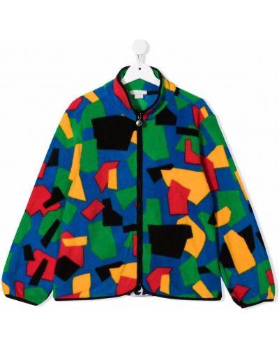 Niebieska kurtka z printem Stella Mccartney Kids