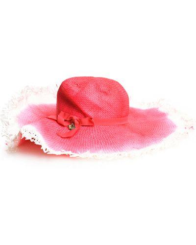 Różowy kapelusz elegancki z cekinami Patrizia Pepe
